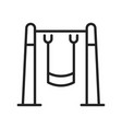 linear simple swing icon vector image vector image