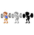 man lifting weight character vector image