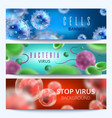 microbiology and medical web banners with vector image
