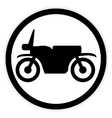 Motorcycle button on white vector image vector image