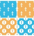 Orthodox cross pattern set colored vector image vector image