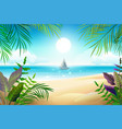 paradise tropical beach landscape coastline palm vector image
