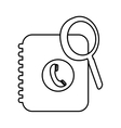 phone book pictogram icon image vector image