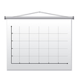 presentation board vector image