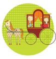 ride in a carriage vector image vector image