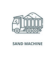 sand machine line icon linear concept vector image vector image