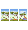 savannah tour poster with african animals vector image
