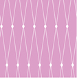 seamless background White grid on the pink vector image vector image