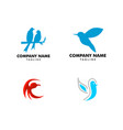 set bird abstract logo design design vector image vector image