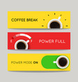 set modern banners with coffee backgrounds vector image
