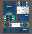 Set of templates for corporate style vector image vector image
