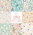 set seamless floral backgrounds vector image vector image