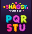 shaggy font 3 set vector image vector image