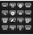Shopping supermarket icons vector image