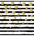 Snowfal golden design vector image vector image
