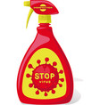 stop virus disinfection - - spray vector image