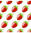 strawberry berry seamless pattern vector image vector image