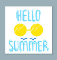summertime card with cute lettering vector image vector image