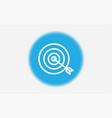target icon sign symbol vector image vector image