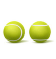 tennis ball top side view realistic vector image vector image