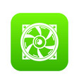 thermal fan icon green vector image vector image