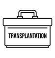transplantation box icon outline style vector image