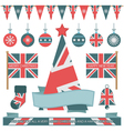 uk christmas objects vector image vector image