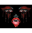 Vampire Makeup vector image vector image