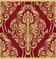 wallpaper in style baroque seamless damask vector image vector image