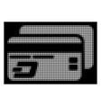 white halftone dash bank cards icon vector image vector image