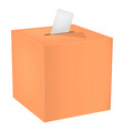 wood election box mockup realistic style vector image