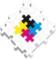 3d puzzle 19 vector image
