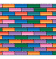 colorful brick wall vector image