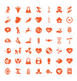 49 life icons vector image vector image