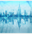 abstract city building background design vector image