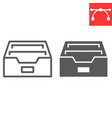 archive line and glyph icon ui and button vector image vector image