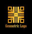 art deco golden logo vector image