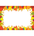 Autumn pencil frame vector image