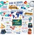 back to school education ink pen infographics vector image