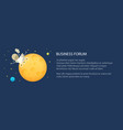 banner with planet rover on yellow moon vector image vector image