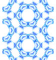 blue round kaleidoscopic pattern vector image