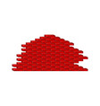 brick wall in red design vector image
