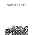 bw circles texture down vector image vector image
