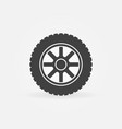 car wheel simple icon - car service symbol vector image vector image