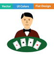 casino dealer icon vector image vector image