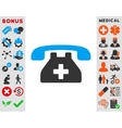 Clinic Phone Icon vector image vector image