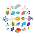 cognizance icons set isometric style vector image vector image