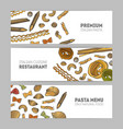 collection of horizontal web banner templates with vector image vector image