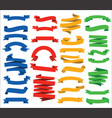 colorful modern flat ribbons and labels collection vector image