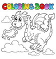 coloring book dragon theme image 3 vector image